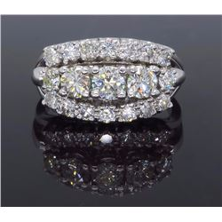 14KT White Gold 1.45ctw Diamond Ring