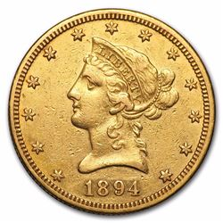 1894-O $10 Liberty Head Eagle Gold Coin