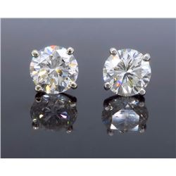 14KT White Gold 3.31ctw Diamond Earrings