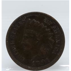 1891 Indian Head Once Cent Coin