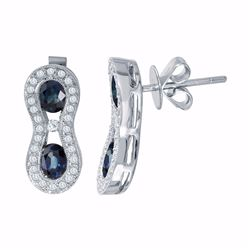 18KT White Gold 2.07ctw Blue Sapphire and Diamond Earrings