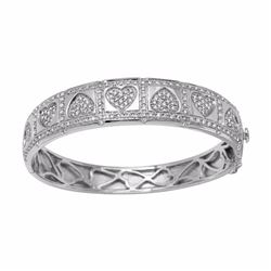 14KT White Gold 2.00ctw Diamond Bangle Bracelet