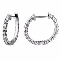 14KT White Gold 0.85ctw Diamond Earrings