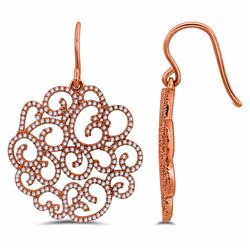 14KT Rose Gold 0.78ctw Diamond Earrings