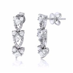 14KT White Gold 1.29ctw Diamond Earrings