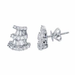 18KT White Gold 0.99ctw Diamond Earrings