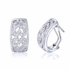 18KT White Gold 0.27ctw Diamond Earrings