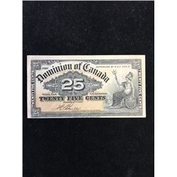 1900 DOMINION OF CANADA 25 CENT FRACTIONAL NOTE!