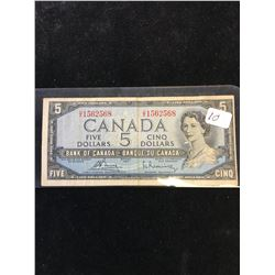 1954 BANK OF CANADA $5 NOTE! MODIFIED PORTRAIT!