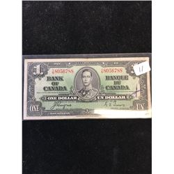 1937 BANK OF CANADA $1 NOTE!