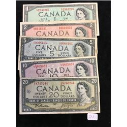 1954 BANK OF CANADA SET $1-$20.