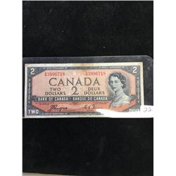 1954 BANK OF CANADA $2 DEVILS FACE NOTE!