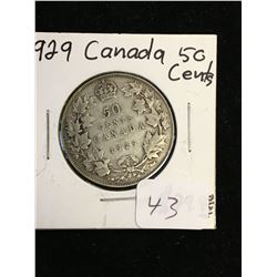1929 CANADA 50 CENTS!