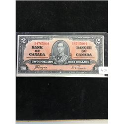 1937 BANK OF CANADA $2 NOTE! HIGH GRADE!!