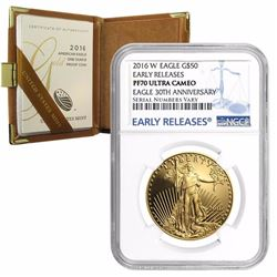 2016-W Gold Eagle 1oz NGC Early Release Mint box