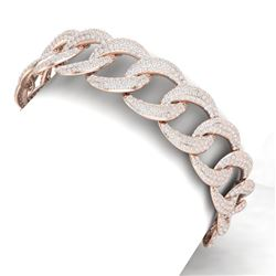 10 CTW Certified VS/SI Diamond Bracelet 18K Rose Gold - REF-736R4K - 40068