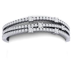 15 CTW Certified VS/SI Diamond Love Bracelet 18K White Gold - REF-729M5F - 39977