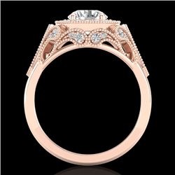 1.75 CTW VS/SI Diamond Solitaire Art Deco Ring 18K Rose Gold - REF-436M4F - 37320