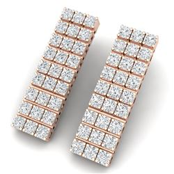 4 CTW Certified SI/I Diamond Earrings 18K Rose Gold - REF-235T2X - 39948