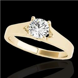 1.5 CTW H-SI/I Certified Diamond Solitaire Ring 10K Yellow Gold - REF-329X8T - 35166