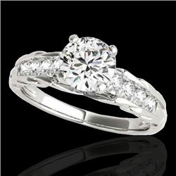 1.2 CTW H-SI/I Certified Diamond Solitaire Ring 10K White Gold - REF-158W2H - 34934