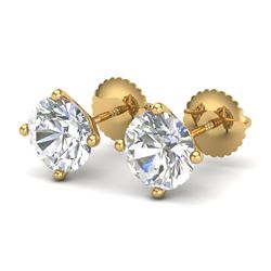 2.5 CTW VS/SI Diamond Bridal Solitaire Stud Earrings 18K Yellow Gold - REF-668W2H - 37309