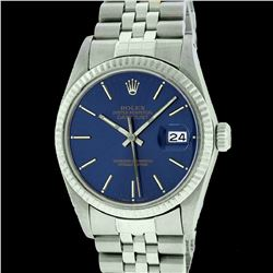 Rolex Men's Stainless Steel, QuickSet, Index Bar Dial, with Fluted Bezel - REF-338X2A
