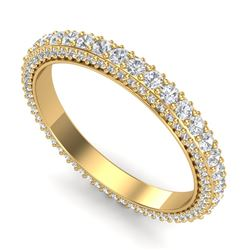 2.10 CTW VS/SI Diamond Art Deco Eternity Eternity Ring 18K Yellow Gold - REF-161F8M - 37213