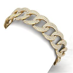 10 CTW Certified VS/SI Diamond Bracelet 18K Yellow Gold - REF-736Y4N - 40069