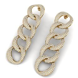 5 CTW Certified VS/SI Diamond Earrings 18K Yellow Gold - REF-340F9M - 40075