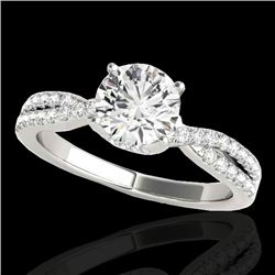 1.3 CTW H-SI/I Certified Diamond Solitaire Ring 10K White Gold - REF-174N5Y - 35277
