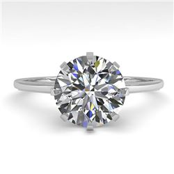 2 CTW VS/SI Diamond Solitaire Engagement Ring 18K White Gold - REF-933T9X - 35766