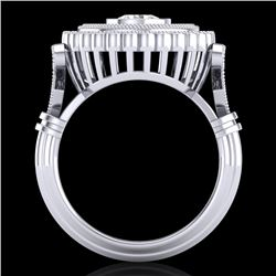 2.03 CTW VS/SI Diamond Solitaire Art Deco Ring 18K White Gold - REF-270H2W - 37079