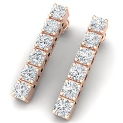 3 CTW Certified VS/SI Diamond Earrings 18K Rose Gold - REF-240N2Y - 39912