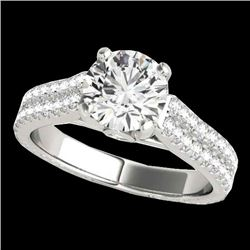 2.11 CTW H-SI/I Certified Diamond Pave Ring Two Tone 10K White Gold - REF-361N6Y - 35464