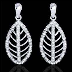2 CTW Micro Pave VS/SI Diamond Certified Designer Earrings 18K White Gold - REF-170K2R - 21474