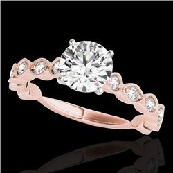 1.75 CTW H-SI/I Certified Diamond Solitaire Ring 10K Rose Gold - REF-200K2R - 34890