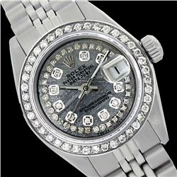 Rolex Ladies Stainless Steel, Diamond Dial & Diamond Bezel, Saph Crystal - REF-363M3H