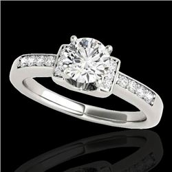 1.11 CTW H-SI/I Certified Diamond Solitairering Two Tone 10K White Gold - REF-156M4F - 34828