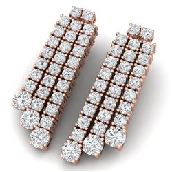 5 CTW Certified VS/SI Diamond Love Earrings 18K Rose Gold - REF-302Y2N - 39984