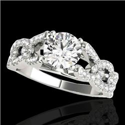 1.5 CTW H-SI/I Certified Diamond Solitaire Ring 10K White Gold - REF-180T2X - 35214