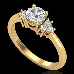 0.75 CTW VS/SI Diamond Ring 18K Yellow Gold - REF-131M3F - 36934