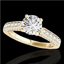 1.6 CTW H-SI/I Certified Diamond Solitaire Ring 10K Yellow Gold - REF-180W2H - 34918