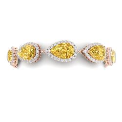 39.26 CTW Royalty Canary Citrine & VS Diamond Bracelet 18K Rose Gold - REF-418M2F - 38869
