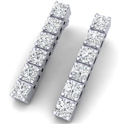 6 CTW Certified SI/I Diamond Earrings 18K White Gold - REF-450X2T - 39920