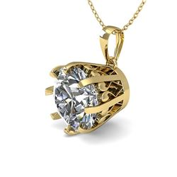 2 CTW VS/SI Diamond Solitaire Necklace 14K Yellow Gold - REF-921N6Y - 29584