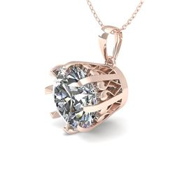 2 CTW VS/SI Diamond Solitaire Necklace 18K Rose Gold - REF-930R8K - 35732