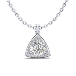 1.50 CTW VS/SI Diamond Certified Necklace 18K White Gold - REF-385Y8N - 20524