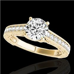 1.32 CTW H-SI/I Certified Diamond Solitaire Ring 10K Yellow Gold - REF-154W4H - 34945