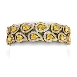 20.11 CTW Royalty Canary Citrine & VS Diamond Bracelet 18K Yellow Gold - REF-763R6K - 39494